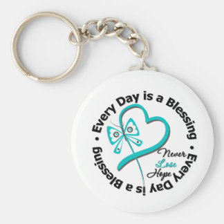 Every Day is a Blessing - Hope Ovarian Cancer Keychains