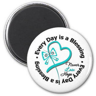 Every Day is a Blessing - Hope Ovarian Cancer Refrigerator Magnet