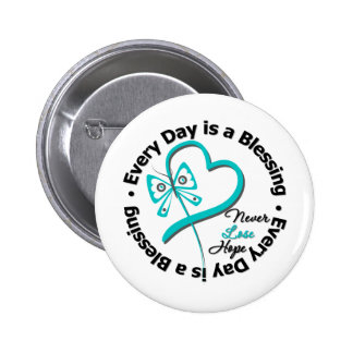 Every Day is a Blessing - Hope Ovarian Cancer Pin