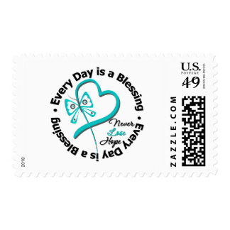 Every Day is a Blessing - Hope Ovarian Cancer Postage Stamps