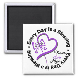 Every Day is a Blessing - Hope Pancreatic Cancer 2 Inch Square Magnet