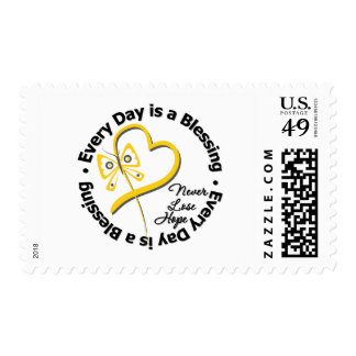 Every Day is a Blessing - Hope Testicular Cancer Postage Stamps