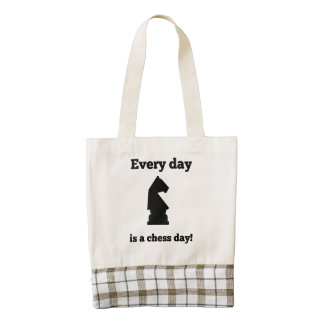 Every Day Is A Chess Day Zazzle HEART Tote Bag