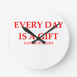 every day is a gift wallclock