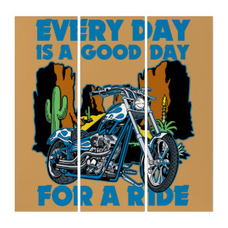 Every Day Is A Good Day For a Ride Triptych
