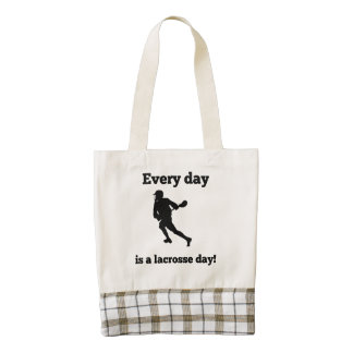 Every Day Is A lacrosse Day Zazzle HEART Tote Bag