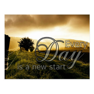 Every Day Is A New Start Postcard