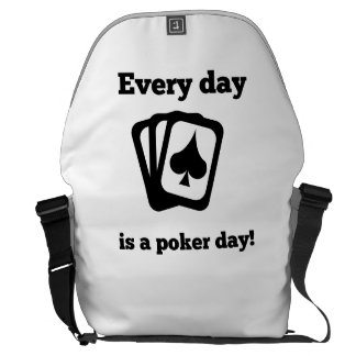 Every Day Is A Poker Day Courier Bag