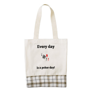Every Day Is A Poker Day Zazzle HEART Tote Bag