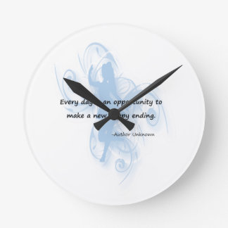 Every Day is an Opportunity Wall Clock