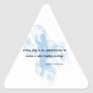 Every Day is an Opportunity Triangle Sticker