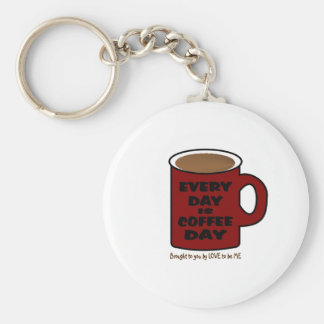 EVERY DAY IS COFFEE DAY KEYCHAIN