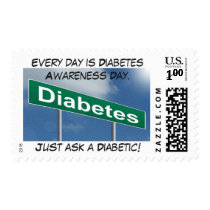 Every day is Diabetes Awareness Day Postage
