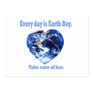 Every Day is Earth Day Large Business Cards (Pack Of 100)