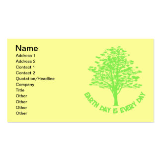 Every Day Is Earth Day Double-Sided Standard Business Cards (Pack Of 100)