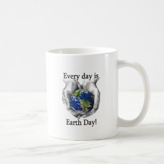 Every day is Earth Day Classic White Coffee Mug