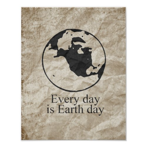 EVERY DAY IS EARTH DAY zazzle_print