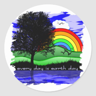 Every Day is Earth Day Classic Round Sticker