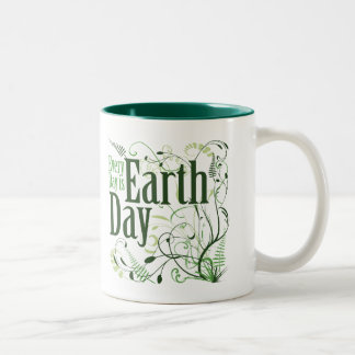 Every Day is Earth Day Swirly Two-Tone Coffee Mug