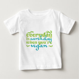 Every Day is Earth Day Vegan Baby T-Shirt
