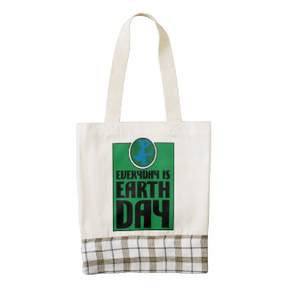 Every Day is Earth Day Zazzle HEART Tote Bag
