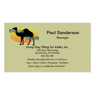 Every Day is Hump Day Business Card Templates