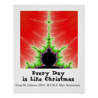 Every Day is Like Christmas Poster