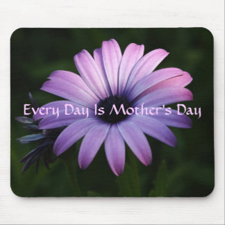 Every Day Is Mother's Day, Purple Daisy Mouse Pad