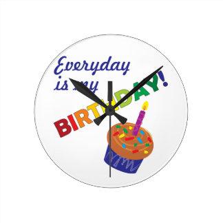 Every day is my Birthday! Wall Clocks