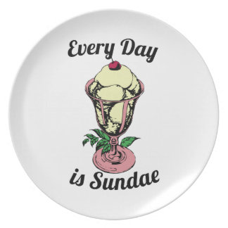 Every Day is Sundae Party Plate