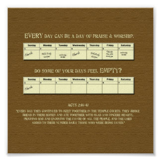 Every day praise and worship - Poster