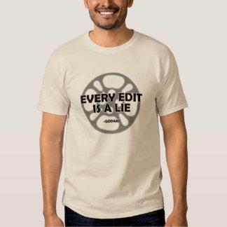 Every Edit is a Lie - Godard -  Shirt