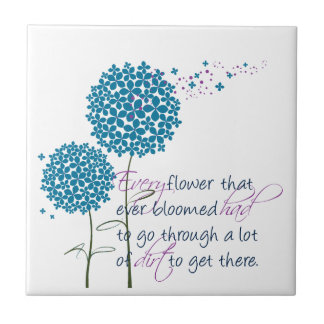Every flower that ever bloomed... ceramic tile