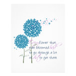 Every flower that ever bloomed... personalized letterhead
