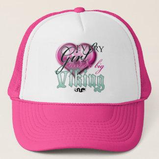 Every girl needs a big viking! trucker hat