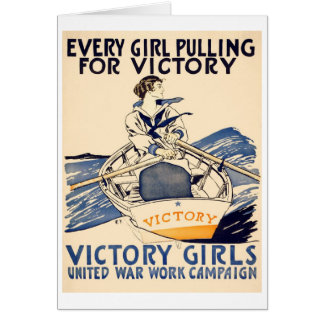 Every Girl Pulling for Victory Greeting Card