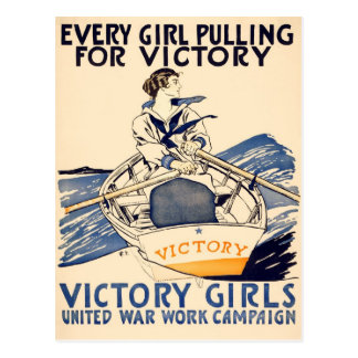 Every Girl Pulling for Victory Postcard