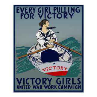 Every Girl Pulling For Victory Poster
