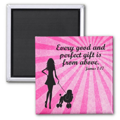 Every Good and Perfect Gift James 1:17 Christian 2 Inch Square Magnet