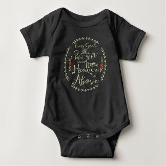 Every Good & Perfect Gift Green with Red Roses Baby Bodysuit