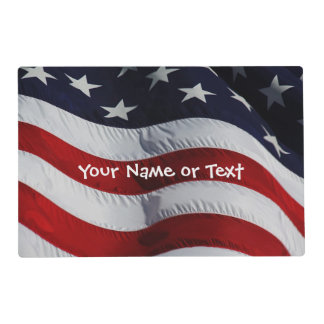 Every Heart Beats... Red White and Blue Flag Placemat