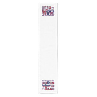 Every Heart Beats... Red White and Blue Flag Short Table Runner