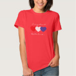 Every heart beats true red white and blue hearts shirt
