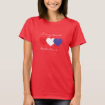 Every heart beats true red white and blue hearts T-Shirt