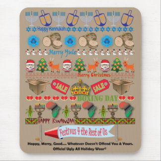 Every Holiday Ugly Sweater Mouse Pad