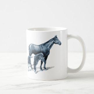 Every Horse Drinkware: Thoroughbred and Mini Classic White Coffee Mug