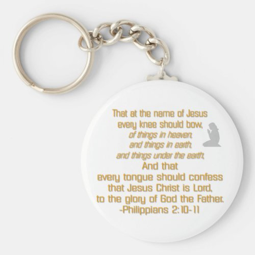 Every Knee Should Bow Keychain