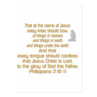 Every Knee Should Bow Postcard