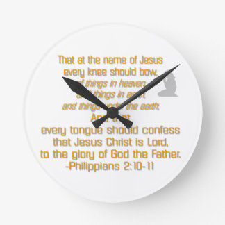 Every Knee Should Bow Round Clock