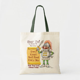 Every Knight Shall Read Every Day Canvas Bags